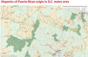 Puerto Rican Population in DMV